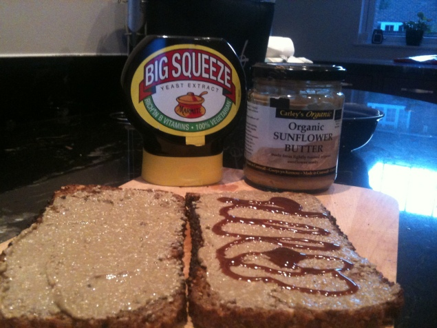 marmite and nut butter